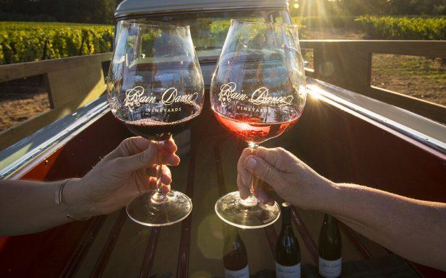 Toasting with Rain Dance Vineyards wines